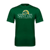 Performance Dark Green Tee-Saint Leo University - Institutional Mark