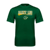 Performance Dark Green Tee-Lacrosse Stick Design