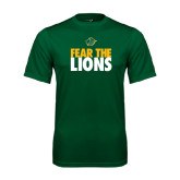 Performance Dark Green Tee-Fear The Lions
