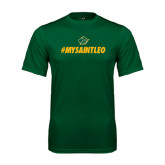 Performance Dark Green Tee-MySaintLeo