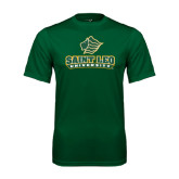 Performance Dark Green Tee-Saint Leo University - Official Logo