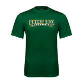 Performance Dark Green Tee-Saint Leo University