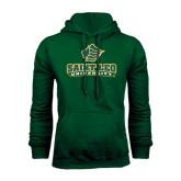 Dark Green Fleece Hood-Saint Leo University - Official Logo