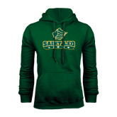 Dark Green Fleece Hood-Saint Leo Lions