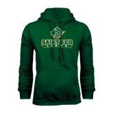Dark Green Fleece Hood-Saint Leo Lions