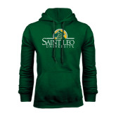 Dark Green Fleece Hood-Saint Leo University - Institutional Mark