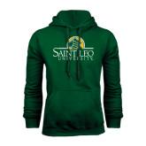 Dark Green Fleece Hood-Saint Leo University - Institutional Mark