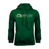Dark Green Fleece Hood-Saint Leo University - Institutional Mark Flat