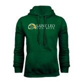 Dark Green Fleece Hood-Saint Leo University - Institutional Mark Flat