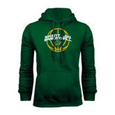 Dark Green Fleece Hood-Basketball Ball Design