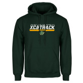Dark Green Fleece Hood-Cross Country and Track Design