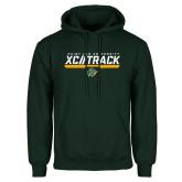 Dark Green Fleece Hood-Cross Country and Track Design
