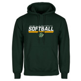 Dark Green Fleece Hood-Softball Script Design