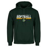 Dark Green Fleece Hood-Softball Script Design
