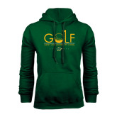 Dark Green Fleece Hood-Golf Flag Design