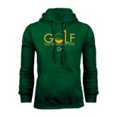 Dark Green Fleece Hood-Golf Flag Design