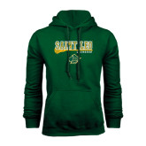 Dark Green Fleece Hood-Lacrosse Stick Design