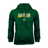 Dark Green Fleece Hood-Lacrosse Stick Design