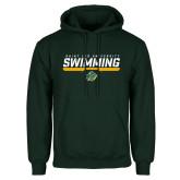 Dark Green Fleece Hood-Swimmer Design