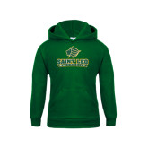 Youth Dark Green Fleece Hoodie-Saint Leo University - Official Logo