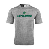 Performance Grey Heather Contender Tee-MySaintLeo