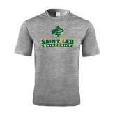 Performance Grey Heather Contender Tee-Saint Leo University - Official Logo