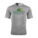 Performance Grey Heather Contender Tee-Saint Leo University - Institutional Mark