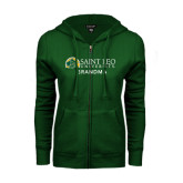 ENZA Ladies Dark Green Fleece Full Zip Hoodie-Grandma