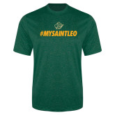 Performance Dark Green Heather Contender Tee-MySaintLeo
