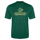 Performance Dark Green Heather Contender Tee-Saint Leo University - Official Logo