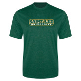 Performance Dark Green Heather Contender Tee-Saint Leo University
