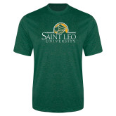 Performance Dark Green Heather Contender Tee-Saint Leo University - Institutional Mark