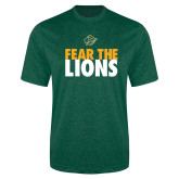 Performance Dark Green Heather Contender Tee-Fear The Lions