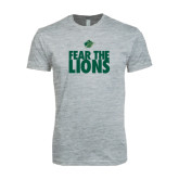 Next Level SoftStyle Heather Grey T Shirt-Fear The Lions