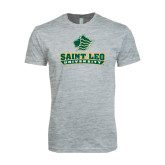 Next Level SoftStyle Heather Grey T Shirt-Saint Leo University - Official Logo