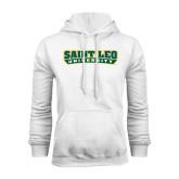 White Fleece Hoodie-Saint Leo University