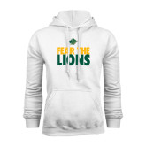 White Fleece Hoodie-Fear The Lions