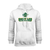 White Fleece Hoodie-Saint Leo University - Official Logo