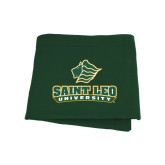 Dark Green Sweatshirt Blanket-Saint Leo University - Official Logo