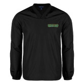 V Neck Black Raglan Windshirt-Saint Leo University