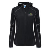 Columbia Ladies Sweet As Softshell Black Jacket-Saint Leo University - Institutional Mark