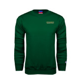 Dark Green Fleece Crew-Saint Leo University