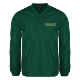 V Neck Dark Green Raglan Windshirt-Saint Leo University