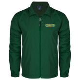 Full Zip Dark Green Wind Jacket-Saint Leo University
