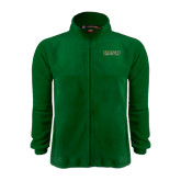 Fleece Full Zip Dark Green Jacket-Saint Leo University