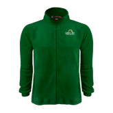 Fleece Full Zip Dark Green Jacket-Saint Leo University - Institutional Mark
