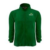 Fleece Full Zip Dark Green Jacket-Saint Leo University - Institutional Mark