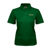 Ladies Dark Green Dry Mesh Polo-Saint Leo University