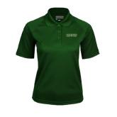 Ladies Dark Green Textured Saddle Shoulder Polo-Saint Leo University