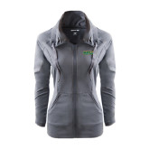 Ladies Sport Wick Stretch Full Zip Charcoal Jacket-Saint Leo University